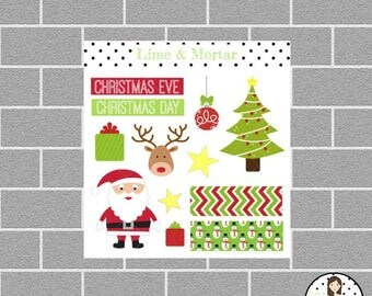 Mini Christmas Special Occasion Planner Stickers