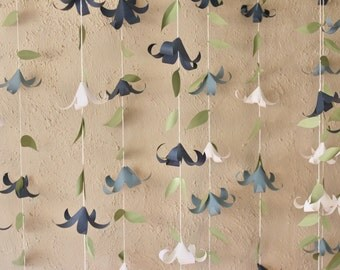 Paper Lily Flower Garland for parties and decor! Custom color schemes - 6 strands
