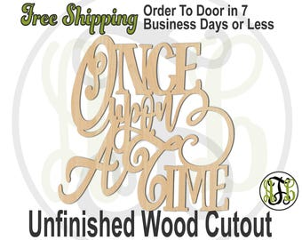 Once Upon A Time - 325015- Engagement Cutout, unfinished, wood cutout, wood craft, laser cut, wood cut out, Door Hanger, wooden sign