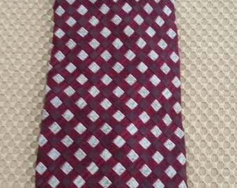 "Vintage GIORGIO ARMANI Cravatte Red/Silver Neck Tie  Made in Italy 58"" L x 4"" W"