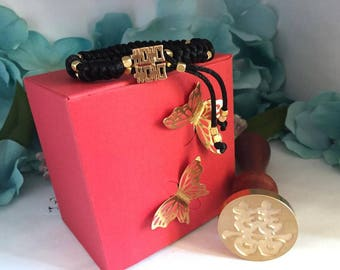 Double Happines Adjustable Bracelet