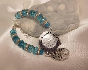 Watch bracelet turquoise tree of life