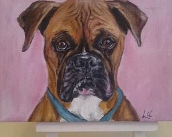Mini pet portrait,oil painting, unique gift
