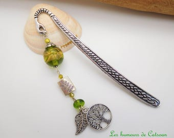 """Book mark  silver and glass bead """"my beautiful angel"""" / gift / gift mother's day / gift reader"""