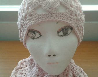 30% OFF ENTIRE PURCHASE Coupon Code (CBE30) Crochet Open Work Beanie and Scarf Set