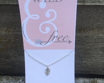 Wild & Free Necklace Dainty Necklace