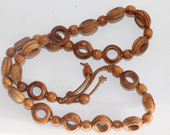 Vintage Wooden Bead Belt/Necklace 39 Inches In Length