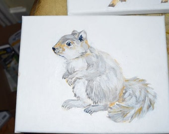 Baby Squirrel Original artwork   8x10