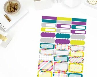 Modern Functional Sheet Stickers! Perfect for your Erin Condren Life Planner, calendar, Paper Plum, Filofax!