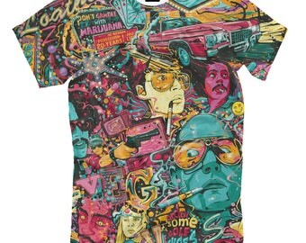 Fear and Loathing in Las Vegas - acid colorful t-shirt psychedelic clothing EDM Multi-Color print lsd vision