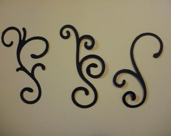 set of 9 Fancy Decorative Filigree Curly Scroll Die Cut Card Stock