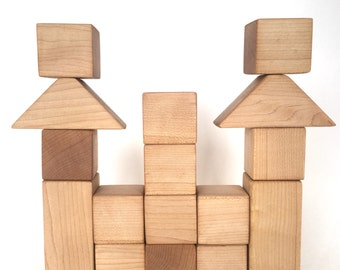 Maple Wood Block Set in Box