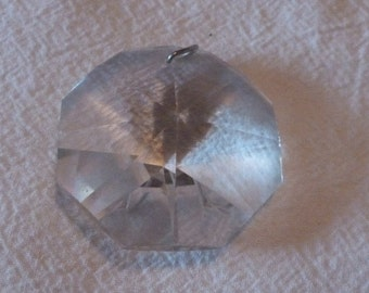 VINTAGE Crystal Pendants - one Large and one thin Chandelier pendant