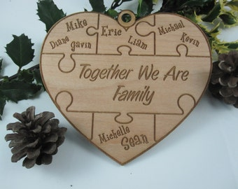 Personalized Wood Christmas Ornaments - Custom Engraved Ornament