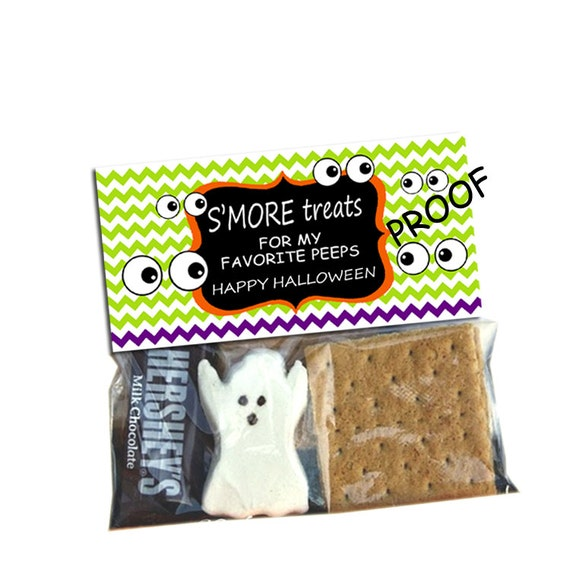Printable Halloween Smores Treat Bag Topper | just b.CAUSE