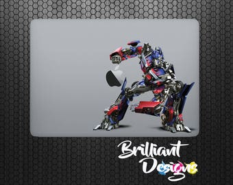 Optimus Prime,Transformers Decal,Sticker,Skin,MacBook Pro, Macbook Air, Macbook, iPad,Gift, Geekery, Dino bots, Prime, for him,for her