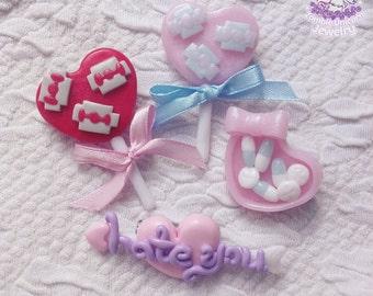 Twisted Love Stories pins brooches menhera yamikawaii pastel