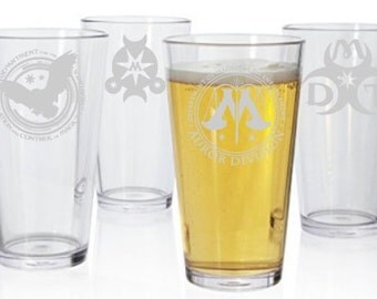 Harry Potter Ministry of Magic Pint Glass Set of 4