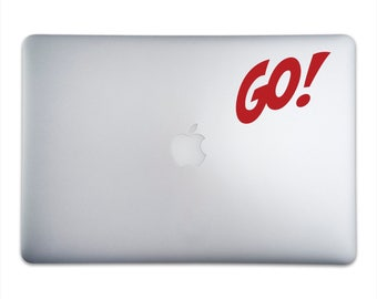 GO! Sticker for MacBooks and Apple Devices