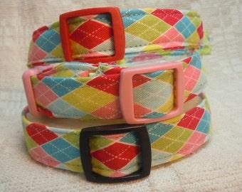 Dog Collar for Small Dog  / Argyle Dog Collar / Preppy  Dog Collar  /  Dog Gift / Urban Pup / City Dog / Stylish Dog Collar