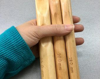 18mm 20mm 25mm crochet hooks - Wood Bamboo