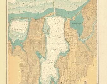 Little Sodus Bay - Lake Ontario Historical Map 1930