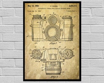 Camera Poster, Vintage Camera Patent, Vintage Camera Print, Vintage Camera, Vintage Camera Decor, Vintage Camera Blueprint, Camera p065