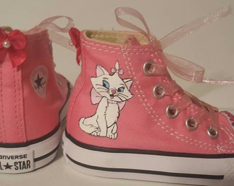 Aristocats Marie Custom Painted Shoes