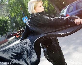 Historical coat Black masquarade costume