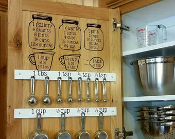 Mason Jar Kitchen Conversion Chart -->OR<-- Spoon/Cup Labels