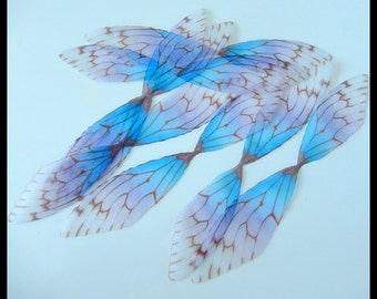 Buttetfly Accessories - Aestheticism Jewelry Accessories-Silk Organza Butterfly Wings/Dragonfly Wings Aceesories - 20  Pieces,100mm