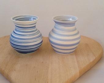 2 x small vase set