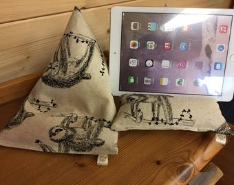 Sloth ipad/kindle/tablet beanie cushion