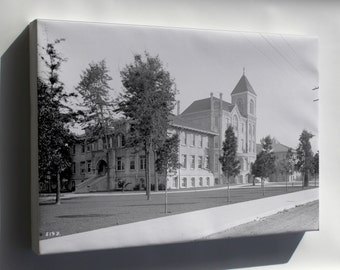 Canvas 24x36; College Of Liberal Arts Building At The University Of Southern California, Los Angeles, Ca.1915 (Chs-5193)