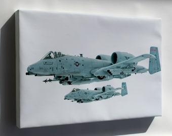 Canvas 24x36; A 10 Thunderbolt In Flight