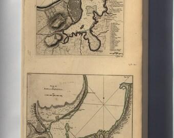 Canvas 24x36; Map Of Havana Cuba 1768
