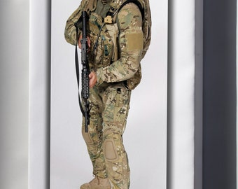 Canvas 24x36; U.S. Army Future Force Warrior Soldier System