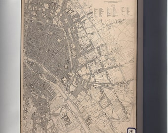 Canvas 16x24; Map Of Eastern Paris 1833