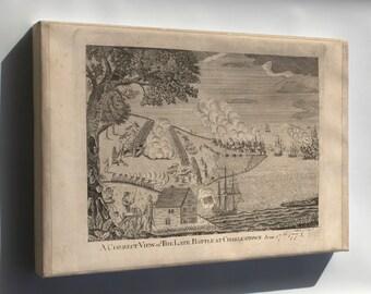 Canvas 16x24; Battle Of Charlestown Boston Massachusetts 1775