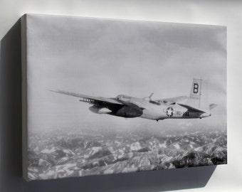 Canvas 16x24; Douglas B-26B Invader B-26 3Rd Bomb Group, Korean War 1951