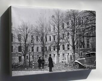 Canvas 16x24; Helsinki Bombardment 1939 Sa Kuvat Fu2011