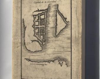 Canvas 16x24; Map Of Charleston South Carolina 1780 (Check Other)
