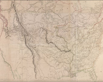 16x24 Poster; Map Of Interior Of United States Of America 1814