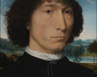 16x24 Poster; Hans Memling Portrait Of A Man With A Roman Coin Wga14910