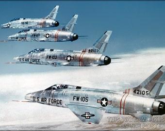 16x24 Poster; F-100 Super Sabre P1
