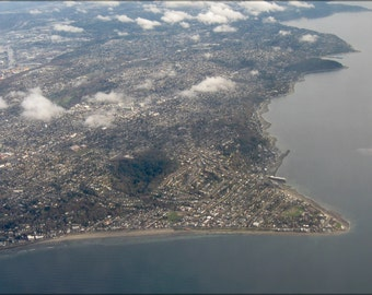 16x24 Poster; Aerial View Of Alki Point 2