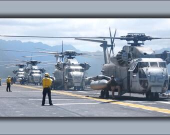 16x24 Poster; Ch-53D Sea Stallions Uss Bonhomme Richard (Lhd 6)