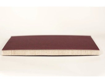 Handcrafted Perfect Bound Art Journal, Burgandy Sketchbook, Hardcover Notebook