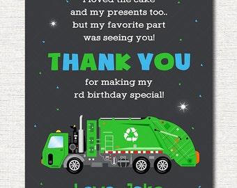 Garbage Thank you card, Garbage Thank you note, Garbage Birthday, Garbage party, printable