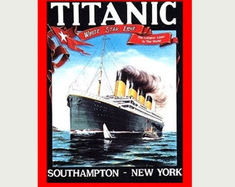 Titanic Decal - Titanic Sticker - Ocean Liner Decal - Vintage Style Decal - Titanic Car Decal - Titanic RV Decal - Titanic Laptop Decal  S26